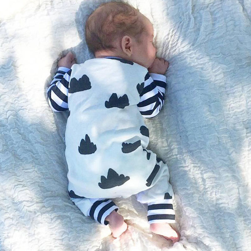 Self-Conscious Long Sleeve Jumpsuit For Baby Boy Romper Attractive And Durable Mother & Kids
