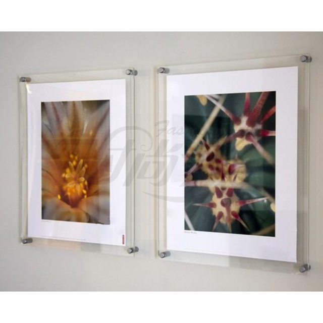 (10 Unit/Lot ) Wall Mounted A4 Acrylic Plexiglass Poster Frames ,Perspex Floating Frames