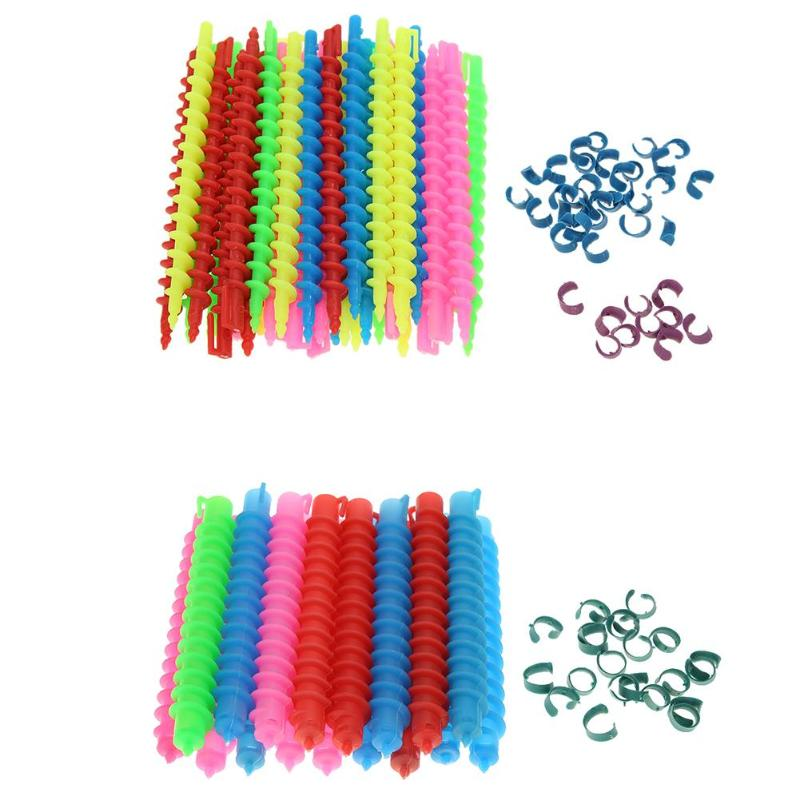 18/35pcs Plastic Long Spiral Hair Perm Rods Hairdressing Curler Rollers DIY Hairdressing Hair Styling Rollers Salon Tool