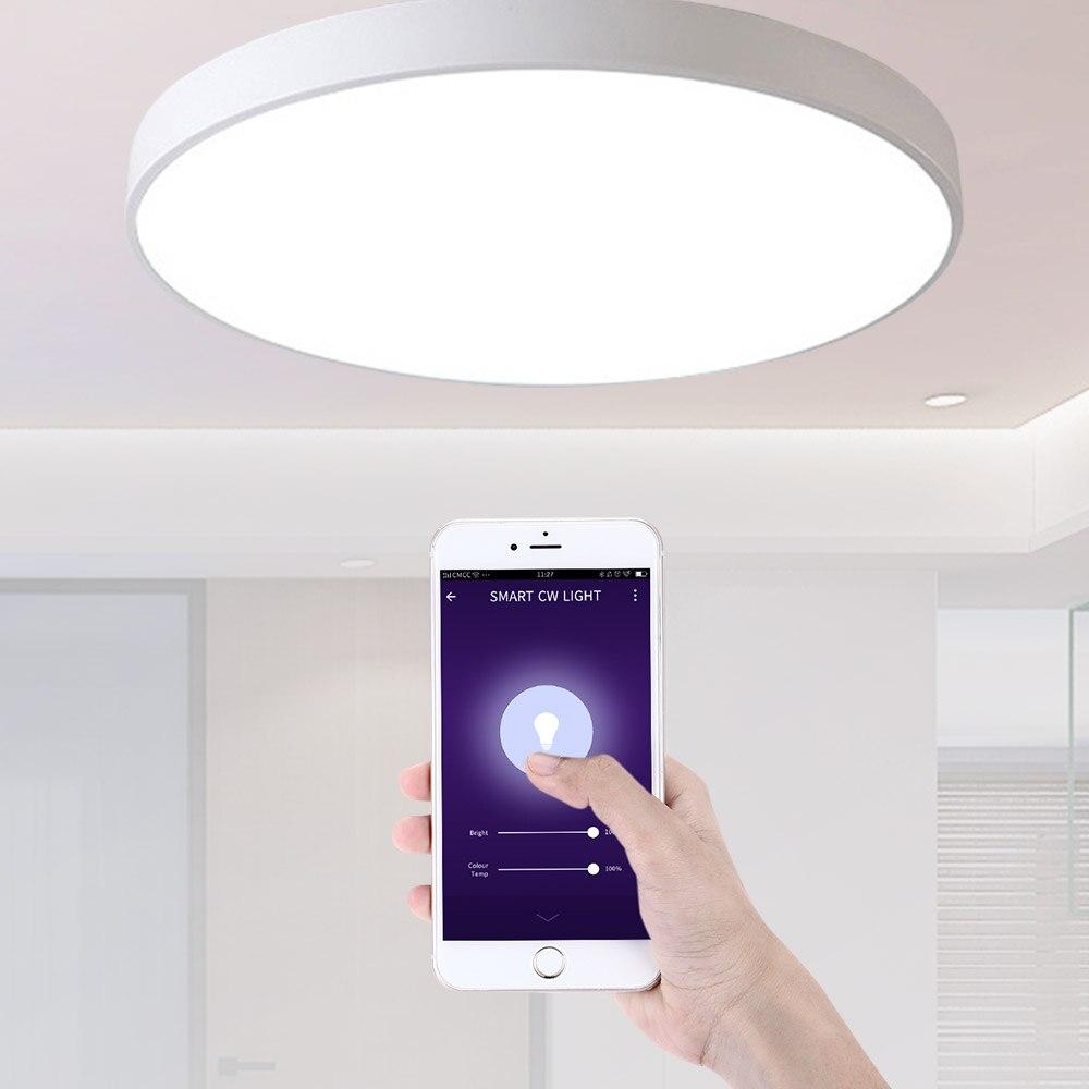 Умный светодиодный потолочный светильник голосовой Дистанционное управление освещением современный светильник умный потолочный светиль...