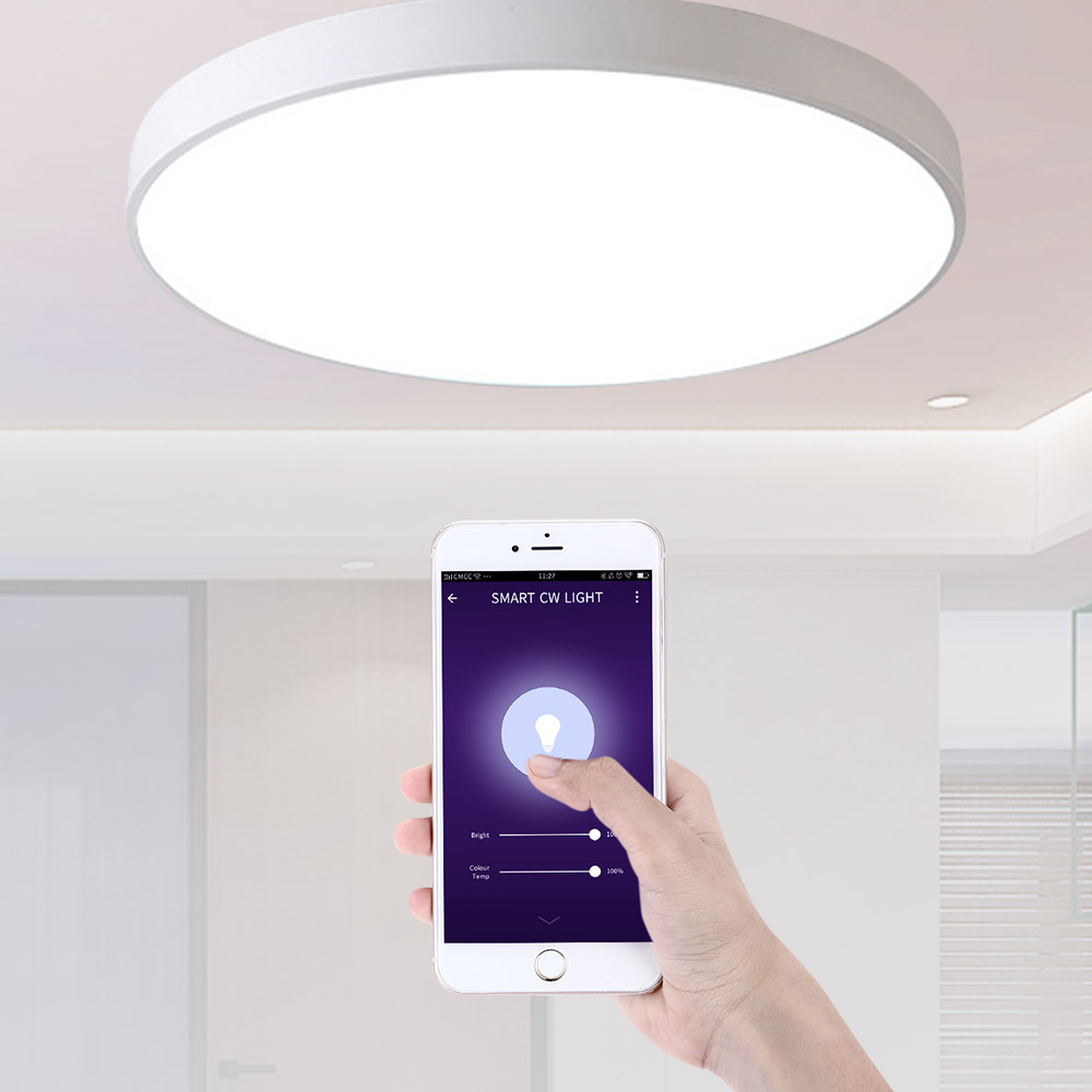 Smart APP LED Ceiling Light Dimmable Lamp Home Fixture For Alexa Google Home
