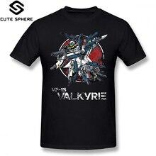Robotech T Shirt Vintage Skull Squadron T-Shirt Oversized Streetwear Tee 100 Cotton Short Sleeve Fun Print Male Tshirt