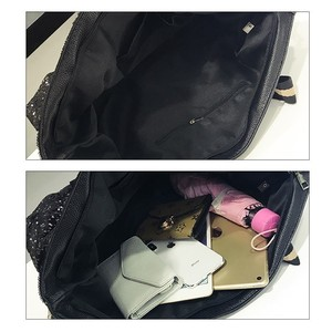 Image 5 - هيرالد نساء موضة الترتر رسالة مطبوعة Handag أنثى سعة كبيرة مقبض علوي حمل حقيبة عادية السيدات حقيبة تسوق الكتف