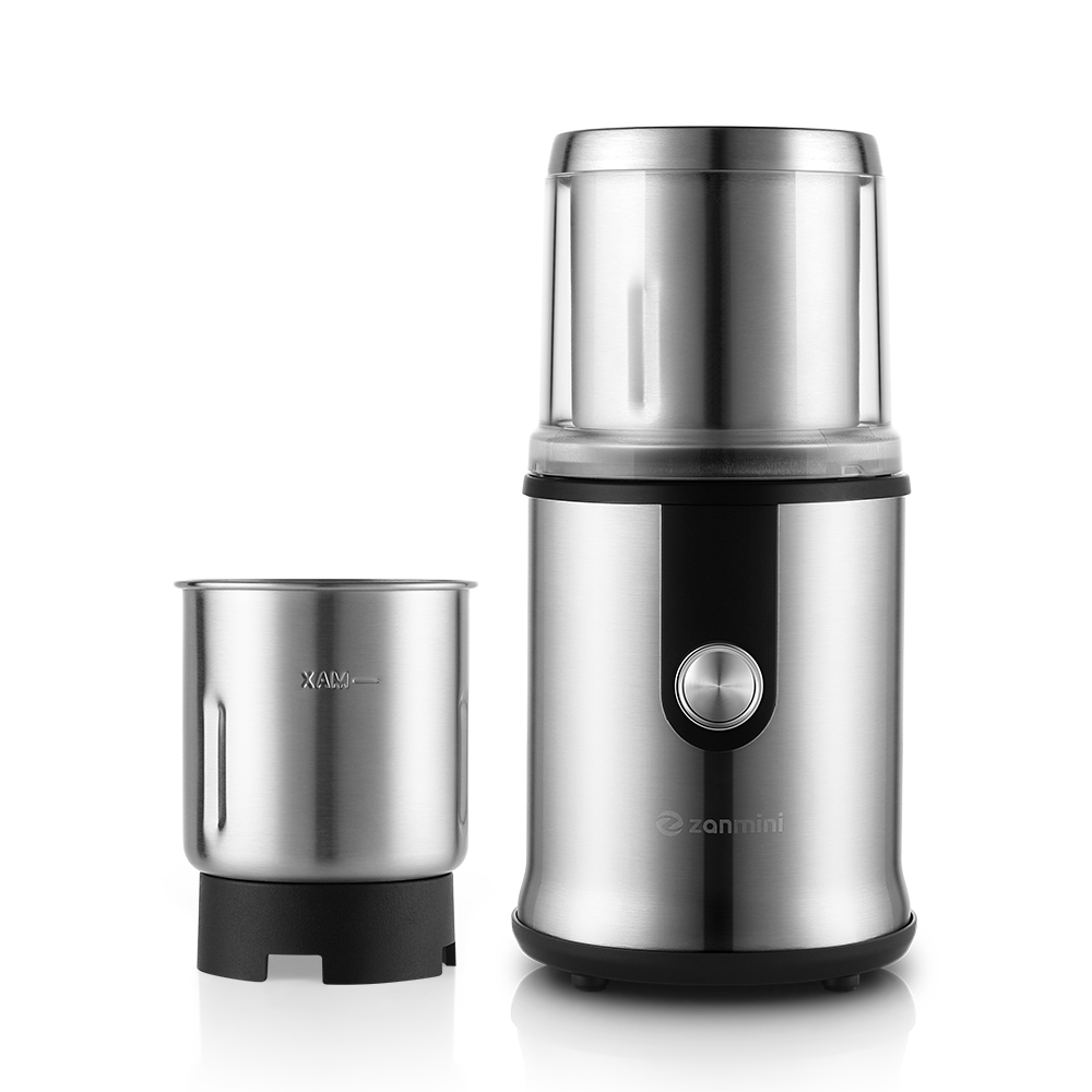 Zanmini Stainless Steel Coffee Grinder With Chopped Cup Set Fruit Grinder Bottle Set Electric Coffee Grinder Manual Coffee Maker