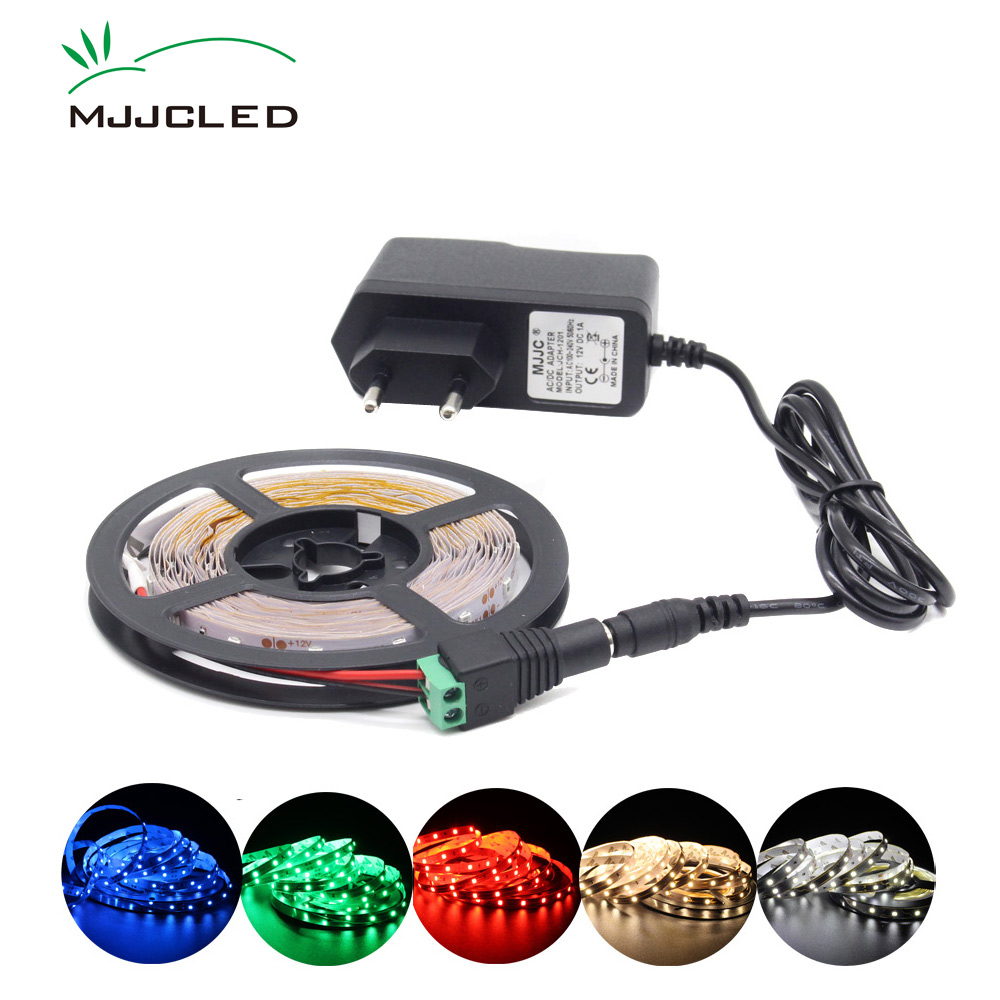 LED Strip 12V 5M Waterproof LED Stripe 10m RGB Tape SMD 2835 Warm White 12 Volt Tira Ribbon Bias Lighting Flexible TV Ambilight