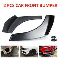 2Pcs 30x4 Inch Universal Car Front Rear Bumper Lip Diffuser Wrap Angle Splitters Winglets Canards Car Accessories Protector
