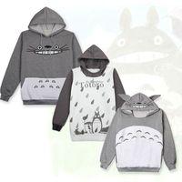 Harajuku My Neighbor Totoro Sweatshirts Hoodies Cosplay Costume Summer Pullover Hoodie Anime Men Women Hooded Zipper Sweater new