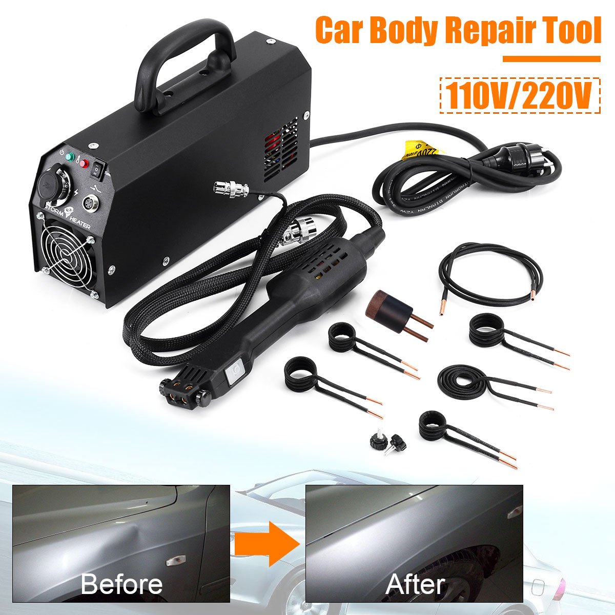110/220 V 2000W Car Induction Heater Repair Machines Tool Paintless Removing For Car Repair Removal Of Dents Car Body Repair