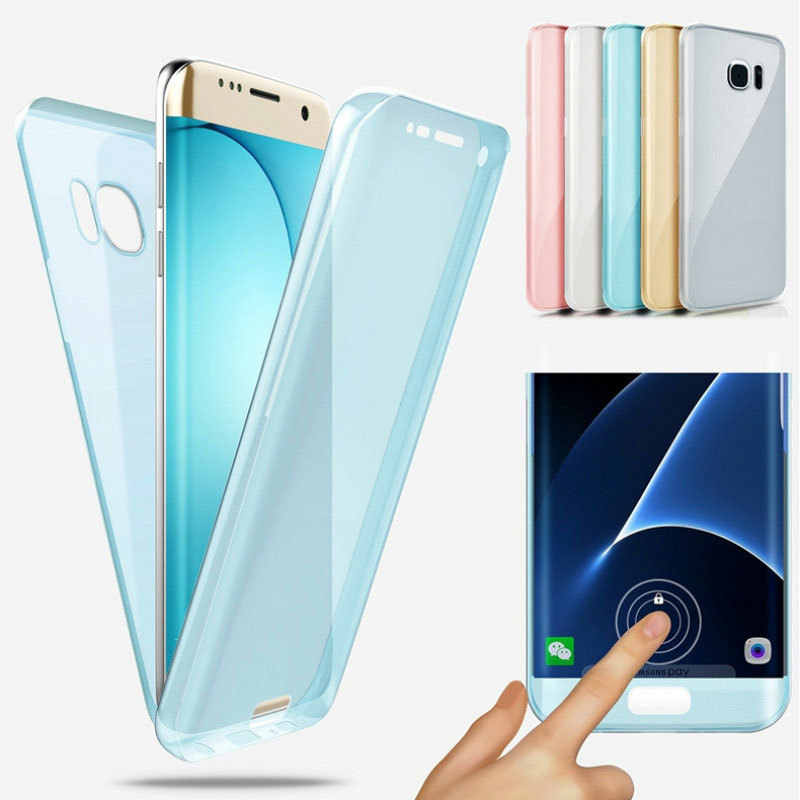 Luxury Soft 360 Full Cover Silicone Case For Samsung Galaxy A6 A8 J4 J6 A7 2018 A750 S9 S8 Plus S7 Edge A3 A5 J3 J5 J7 2016 2017