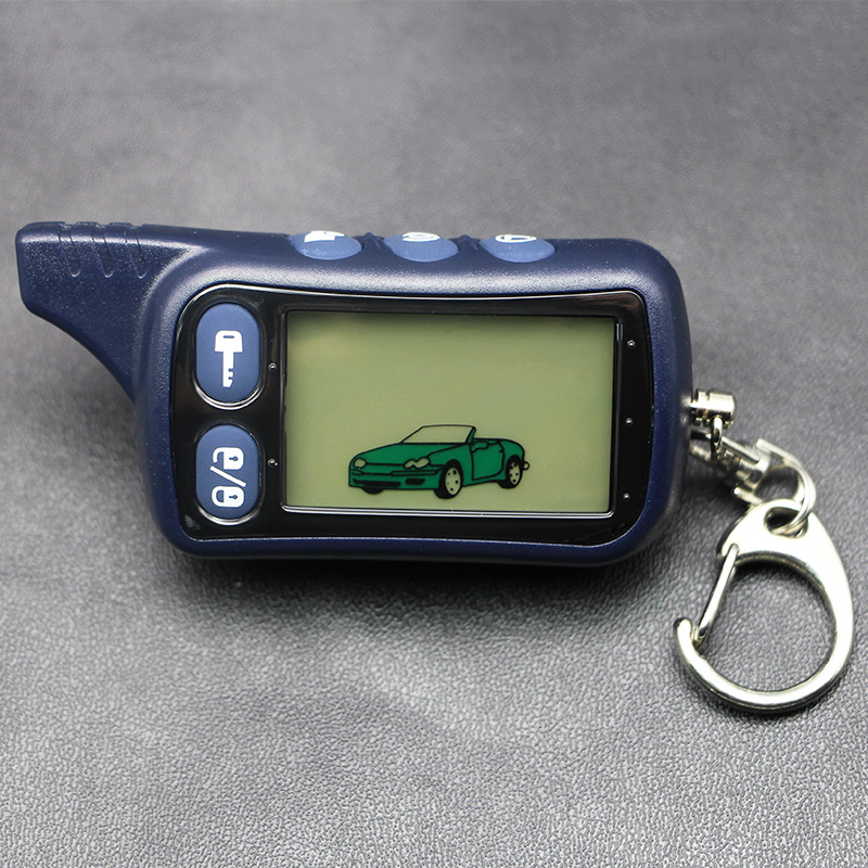Tomahawk TZ9010 LCD Remote Controller Keychain,TZ-9010 Key Chain Fob for Vehicle Security 2-Way Car Alarm System TZ 9010 image
