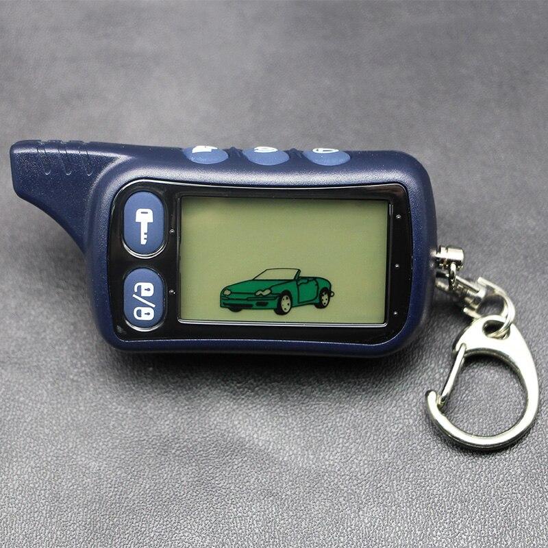 TZ9010 Controle Remoto LCD Tomahawk Keychain, TZ-9010 2 Chaveiro Cadeia Fob para a Segurança Do Veículo-Way Sistema de Alarme de Carro TZ 9010