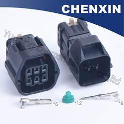 Черный 6pin Авто герметичный водостойкий штекер мужской и женский 1,2-8760-30 (7283) Авто аксессуары провода разъем сенсор разъем