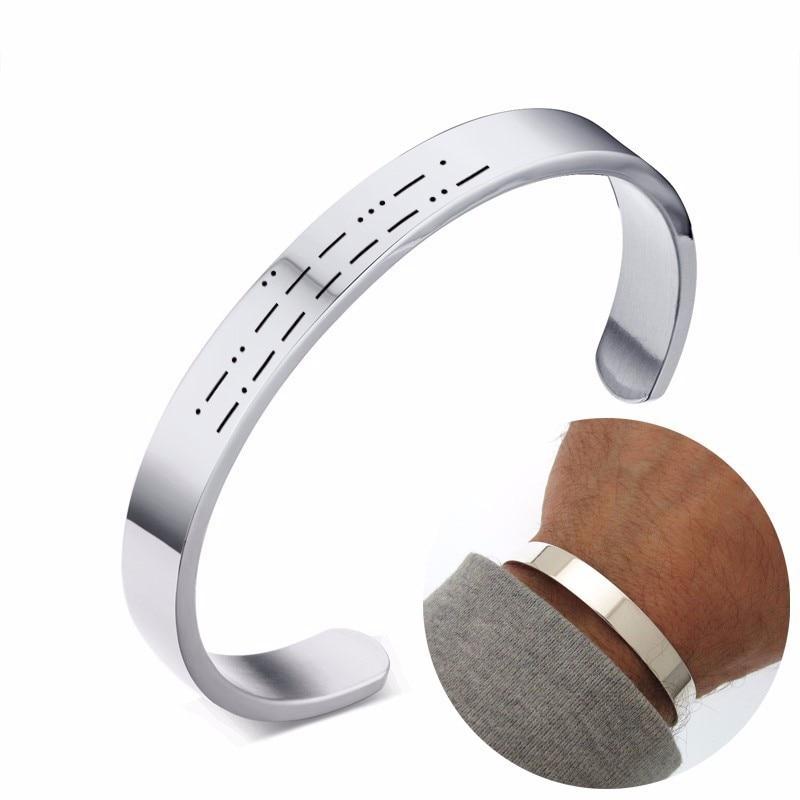 sélection premium 33e5f 0ca00 Duoying Morse Code Bracelet papa personnalisé Message caché ...
