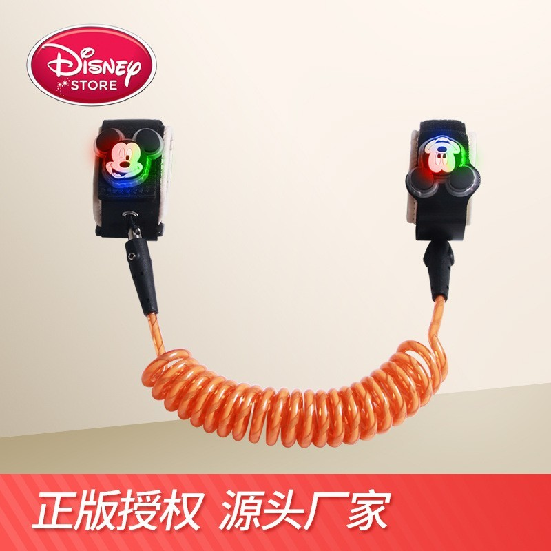 Disney Safety Lock Baby Anti Lost Wrist Link Harness Strap Rope Leash Walking Hand Belt Band Wristband for Toddlers Children1.8m