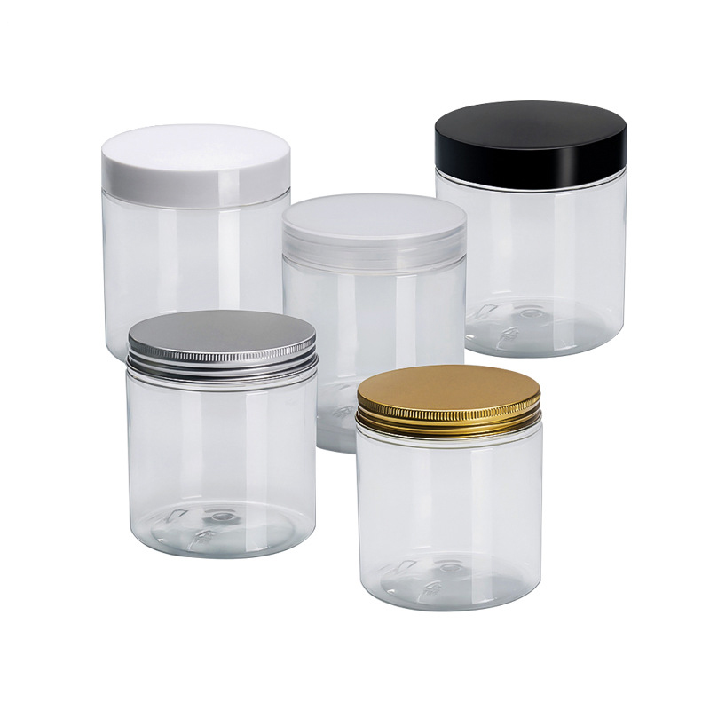 Big Size Wide Mouth Neck Jar 500g Plastic Packaging Transparante PET - Huidverzorgingstools - Foto 1