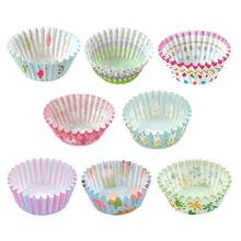 100PCS Baking Muffin Cake Paper Cup Bakery Oil-proof Chocolate Egg Tart Paper Tray High Temperature Resistance