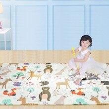 150X200 см ребенка играть мат Xpe головоломки Детская коврик утолщенной Tapete Infantil тренажерный зал Детская комната ползать коврик складывающийся ковер для детей