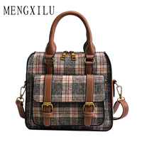 Fashion Patchwork Women Crossbody Bags High Quality PU Leather Women Shoulder Bag Hit Color Ladies Messenger Bags Small Sac New