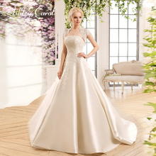 Ashley Carol Satin A-Line Wedding Dress 2019 Strapless
