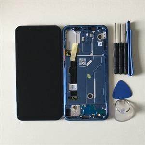 """Image 3 - Ban Đầu Axisinternational 6.21 """"Dành Cho Xiaomi Mi8 Mi 8 Mi8 Supor AMOLED Màn Hình LCD + Bảng Điều Khiển Cảm Ứng Bộ Số Hóa Với khung + Dụng Cụ"""