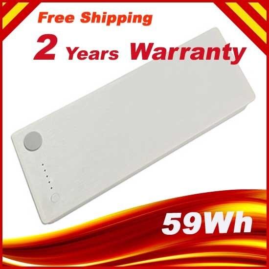 White 59wh 10.8v Laptop Battery For Apple MacBook 13