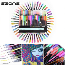 EZONE Filling Colour Pen 12/16/18/24/36/48 Colors Gel DIY Graffiti Drawing Different Color Creative Fluorescent