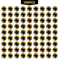 100pcs 3mm - 12mm 3D Epoxy Fishing Eyes Pupil Fishing Lure Eyes for Making Fishing Bait Fly Tying Streamers Lures Crafts