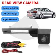 Car Wide Angle Reverse Backup CCD Parking Rear View Camera For VW Transporter T5 T30 For Caddy Passat B5 for Touran Jetta(China)