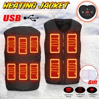 3 Modes Men Women 10 Heating Pads USB Heated Vest Wind Resistant Jacket Winter Electric Thermal Work Safety Clothing+laundry bag