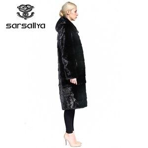 Image 4 - SARSALLYA Real Fur Style Fashion Fur Coat Genuine Leather Mandarin Collar Good Quality Mink Fur Coat Women Natural Black Coats