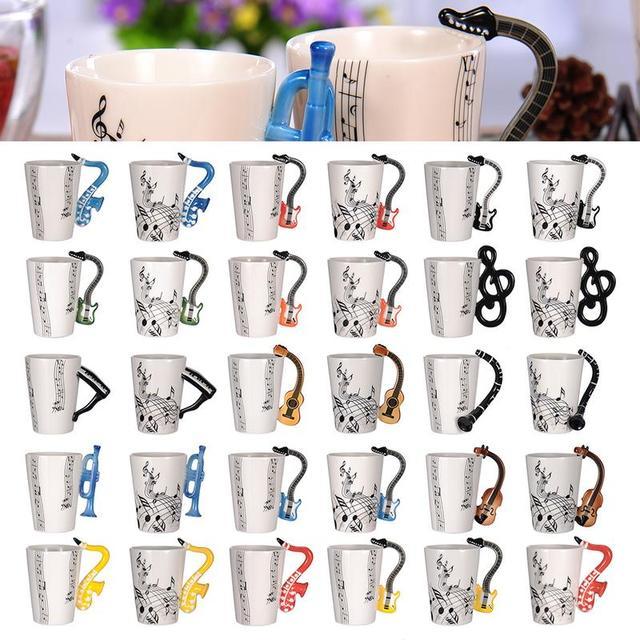 Креативная Музыка Скрипка Гитара Керамика кружка кофейная чайная молоко предотвратить чашки с ручкой Кофе кружка, новые подарки для свадебного торжества и дня рождения