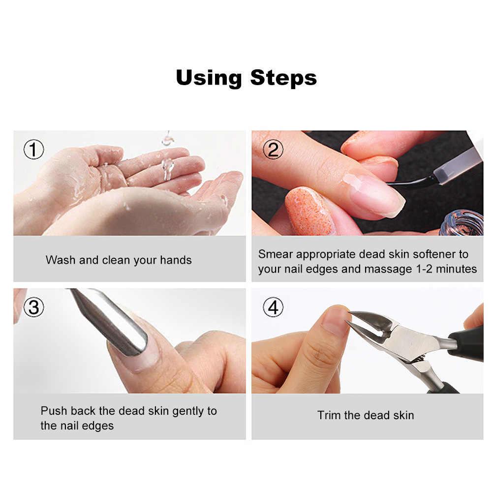 เล็บ Art เครื่องมือ Nipper Cuticle Remover กรรไกรสแตนเลสหนา Tough เล็บเท้าเครื่องมือดูแลเล็บ