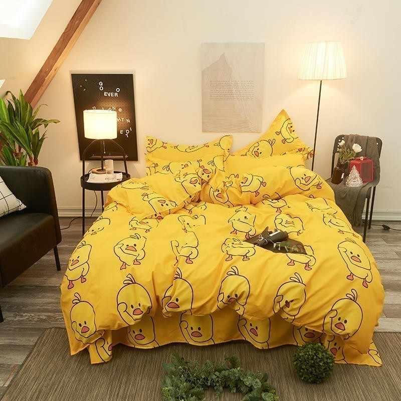 שמיכה לילדים יפה צהוב ברווז מיטת רפידות בעלי החיים שמיכה כיסוי הציפית חם צהוב לא שטוח מיטת גיליון