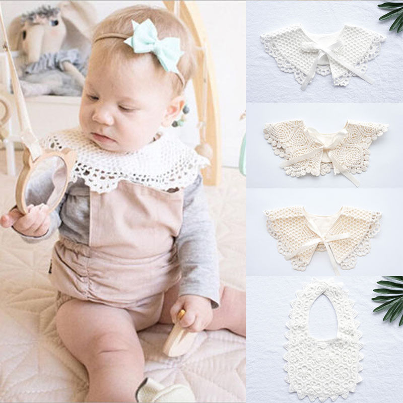 Baby Girl Bibs Animal Princess Lace Cotton Bandana Bibs Feeding Saliva Towel