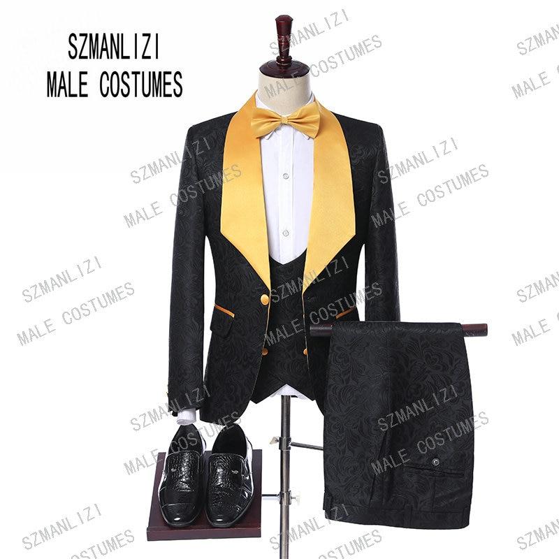 New Arrival 2019 Groomsmen Formal Groom Party Suit Terno Slim Fit Mens Tuxedo Blazer Wedding Suits For Men Bridegroom 3 Pieces