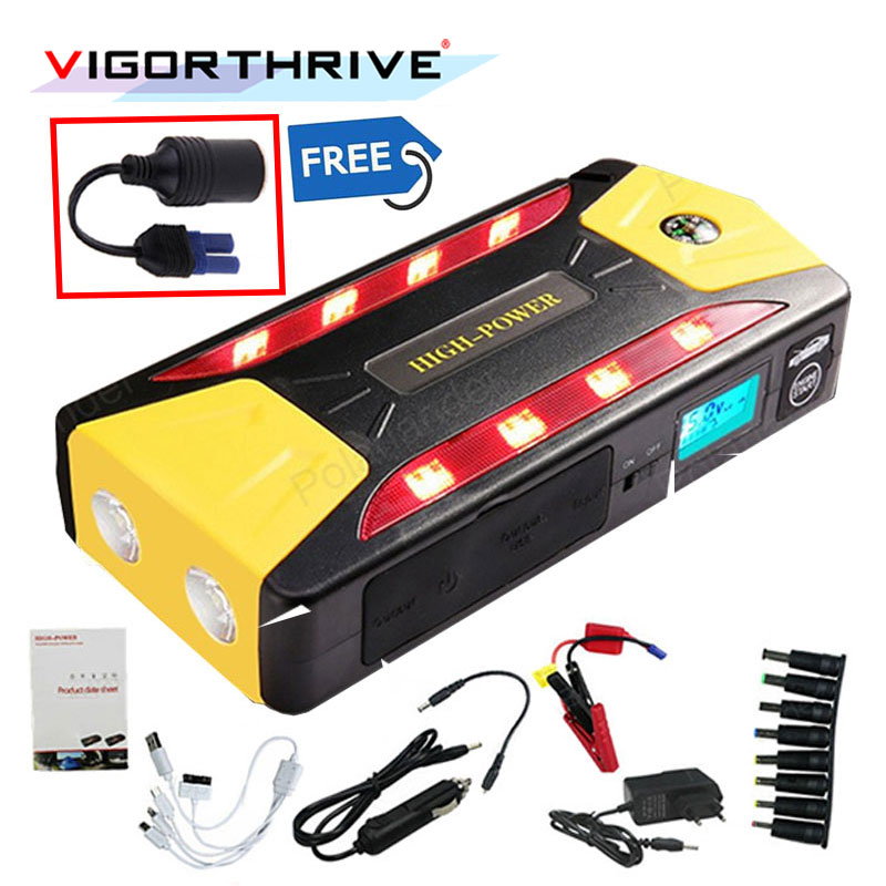 12V Booster Start Jumper Battery UK Plug Mini Multifunction Emergency Car Jump Starter Discharge Rate Diesel Auto Power Bank