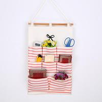 Adeeing Simple Casual Multi layer Hanging Storage Bags 8 Pocket Room Organizer Pouch Storage Bag