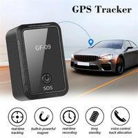 Novo GF-09 mini gps tracker app controle anti-roubo dispositivo localizador gravador de voz magnética para veículo/carro/localização da pessoa