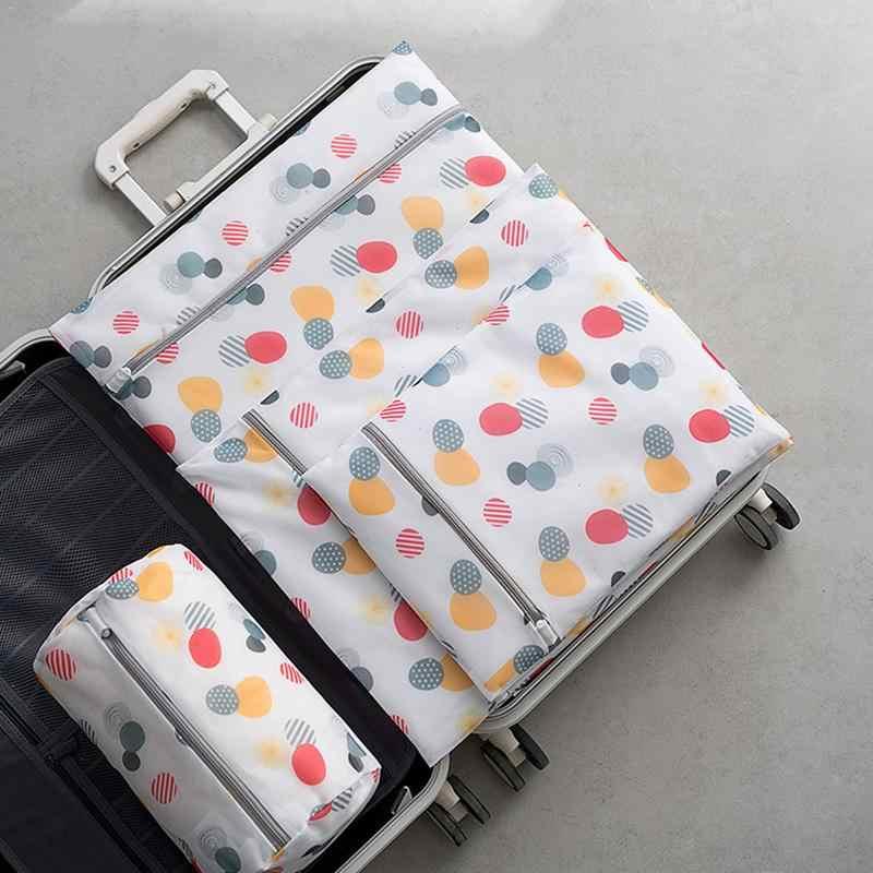 حقيبة الغسيل مجموعة الجوارب البرازيلي ملابس داخلية الغسيل الرعاية غسل شبكة حقيبة السفر المنظم مع سستة الغسيل تخزين لوازم