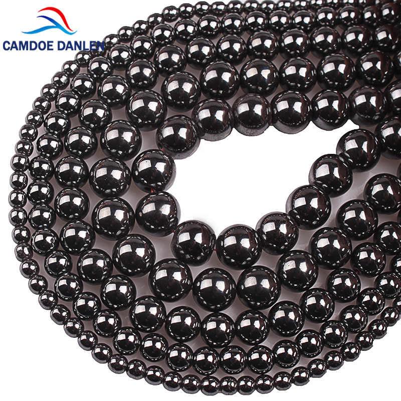 Natürliche Stein Perlen Schwarz Hämatit Runde Perlen 2 3 4 6 8 10 12 14 16 18 20 MM Fit diy Charme Armband Halskette Für Schmuck Machen