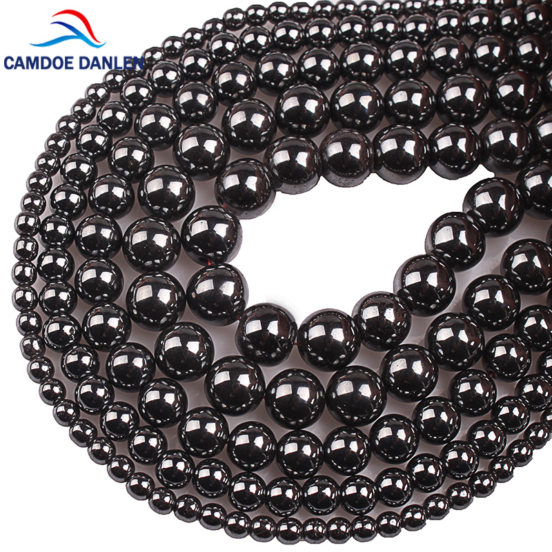 Natural Stone Beads Black Hematite Round Beads 2 3 4 6 8 10 12 14 16 18 20MM Fit Diy Charms Bracelet Necklace For Jewelry Making