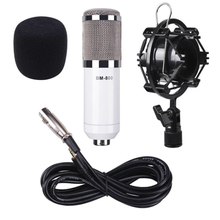 Condenser Microphone Audio 3.5mm Wired BM800 Studio Microphone Vocal Recording KTV Karaoke Microphone Mic W/Stand For Computer metal 55sh microphone rose gold color vocal dynamic retro vintage mic 55 sh for mixer audio studio video singing recording