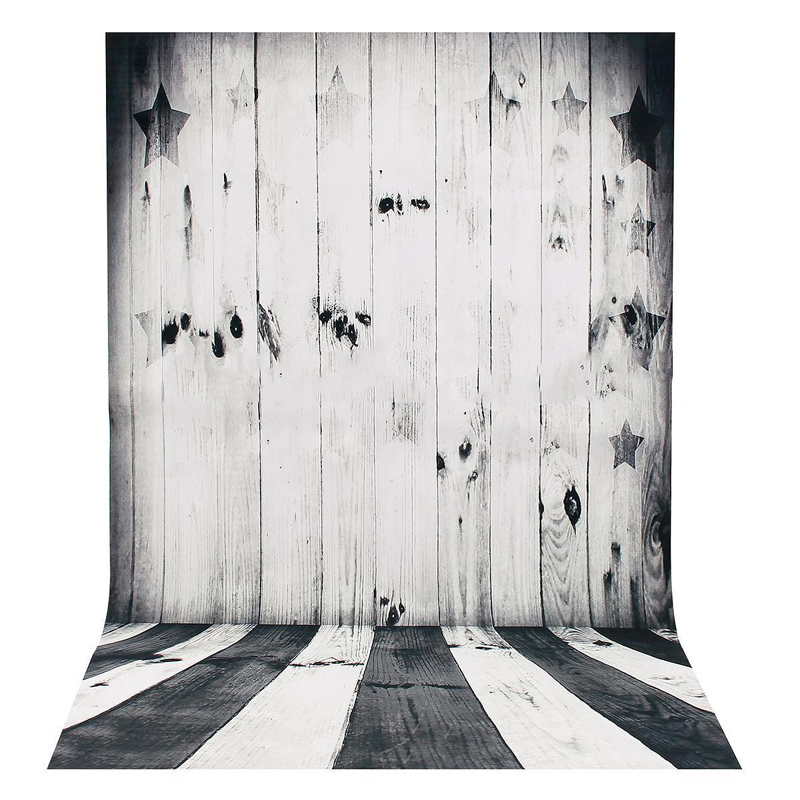 Купить с кэшбэком Pohiks 90x60cm Mini Black White Backdrop Raw Silk Cloth Wood Floor Photography Background For Photo Studio Prop