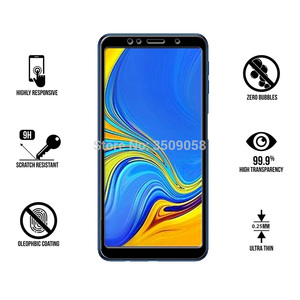 Image 3 - 1 2Pcs/Pack A7 2018 Glass for Samsung Galaxy A7 2018 A750 SM A750F Tempered Glass On the Samsun Glaxy A 7 2018 A72018 Cover Sklo
