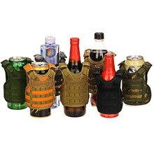 Мини-холодильник для бутылок тактический жилет слой военный чехол для пивной бутылки охладитель напитков мини Molle жилет регулируемые плечевые ремни