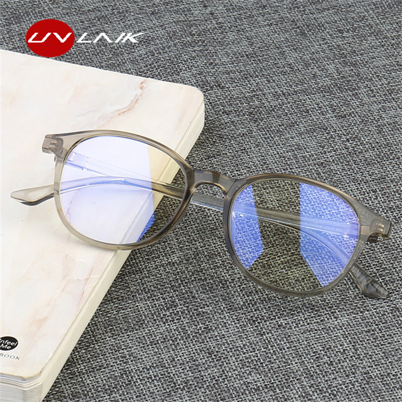 UVLAIK Anti Blue Light Glasses Frame Women Eye Protection Anti Radiation Eyeglasses Men Anti Blue Rays Computer Goggles Glasses