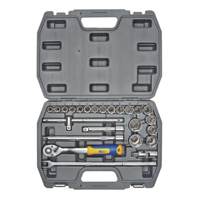 Набор ручного инструмента KRAFT КТ 700301 (25 предметов) (25 предметов, диапазон размеров 10-32 мм, кейс в комплекте)