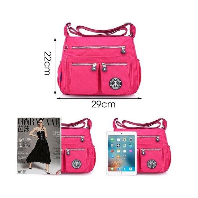 TTOU Ladies Fashion Shoulder Bags for Women Designer Waterproof Nylon Handbag Zipper Purses Messenger Crossbody Bag sac a main 3