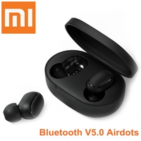 Xiaomi Bluetooth Car Kit Wireless AirDots Earphone Voice Control BT5.0 Noise Reduction Tap Control Music Receiver Handsfree Call