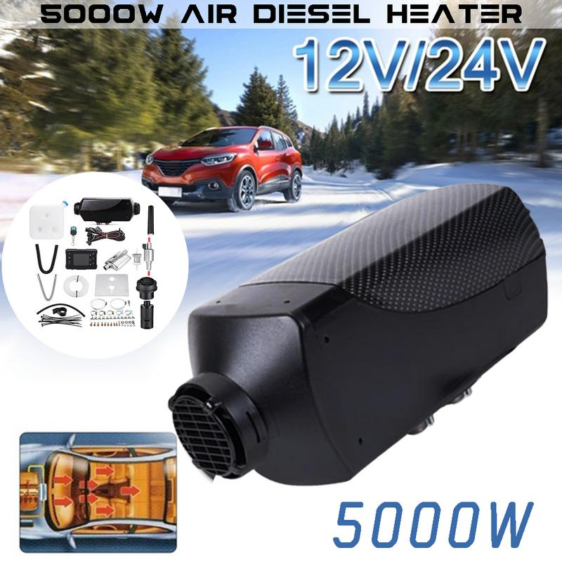 5KW 12 V voiture chauffage Air Diesels chauffage Parking chauffage avec télécommande LCD moniteur pour camping-Car remorque camions bateaux